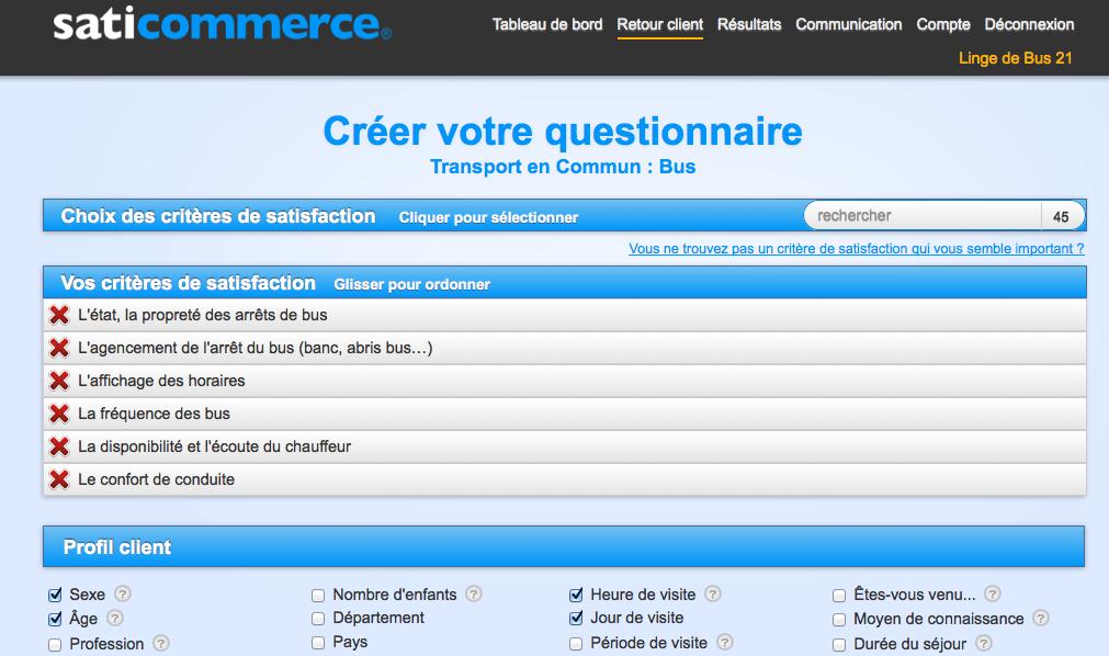 """Connu Modele questionnaire satisfaction client """"transport en commun  FC04"""