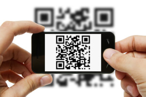 Scanning QR code with mobile phone